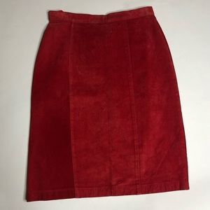 Vintage Foxrun Leather Red Skirt Mini 80s 1980's 7